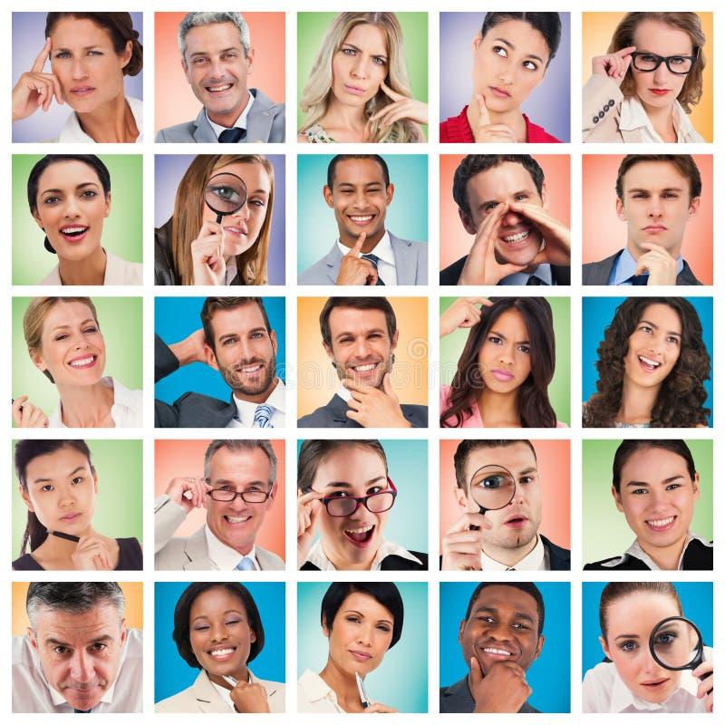 Ritratto 5x5 del collage della gente immagini stock libere da diritti