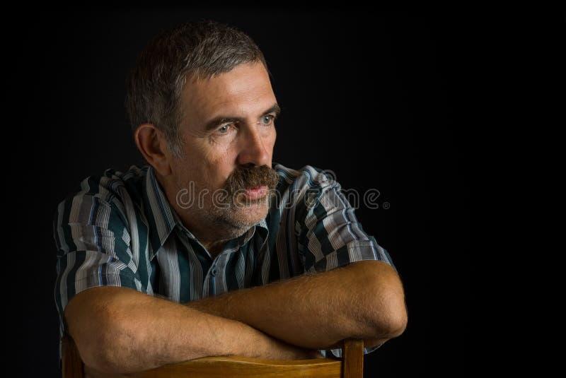 Ritratto del contadino ucraino maturo fotografia stock libera da diritti