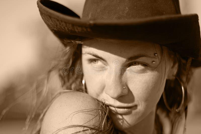 Ritratto del Cowgirl immagini stock