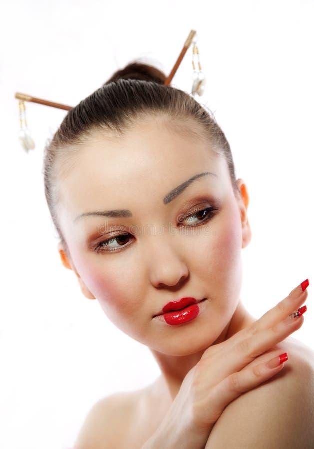 Ritratto del geisha fotografia stock