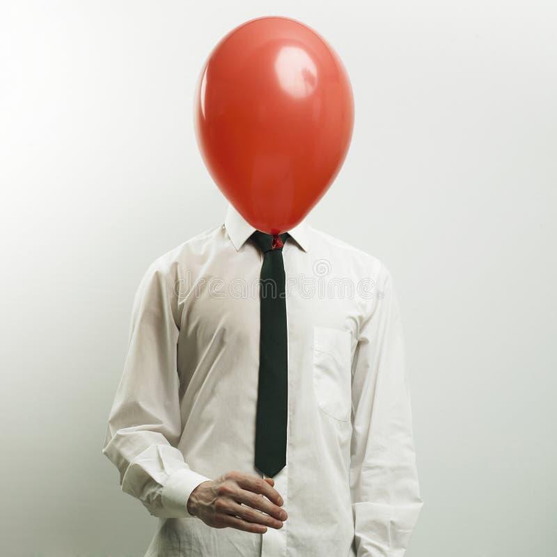 Ritratto del gestore di ufficio con la testa - aerostato fotografie stock
