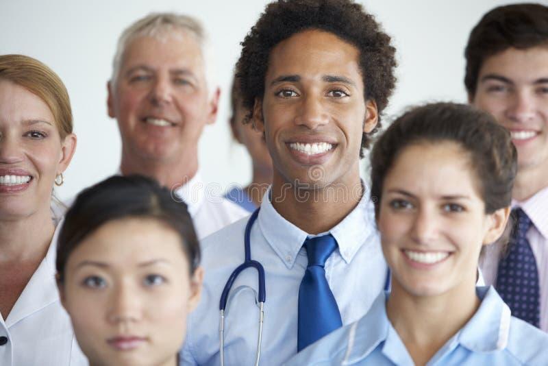 Ritratto del gruppo di medici fotografia stock libera da diritti