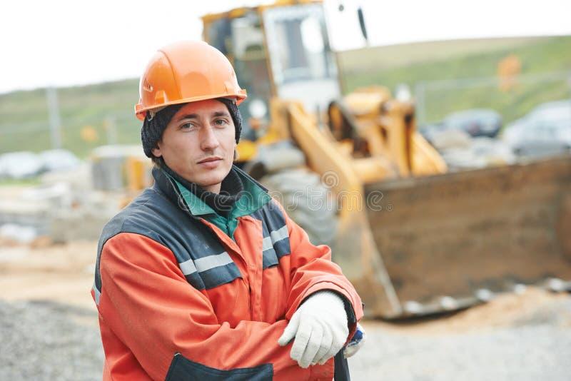 Ritratto del lavoratore del costruttore della costruzione fotografia stock