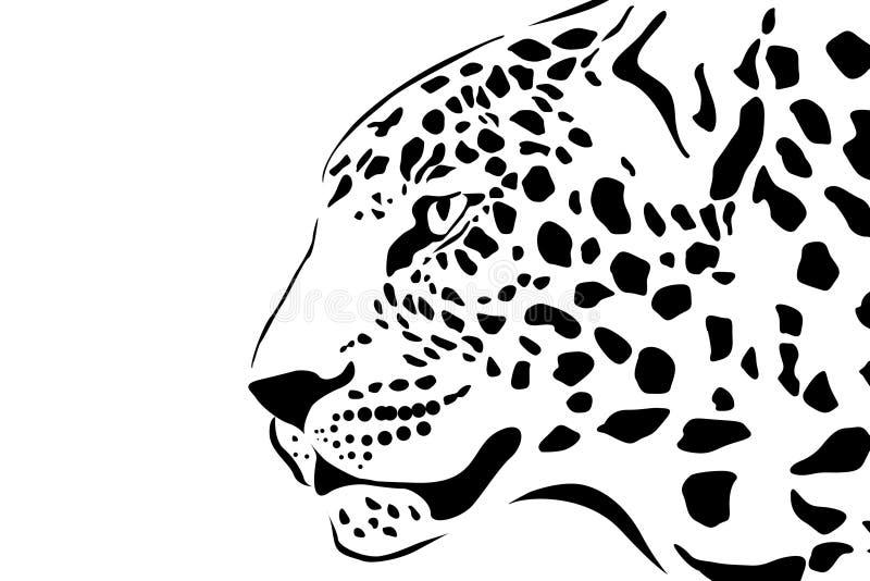 Ritratto del leopardo illustrazione di stock