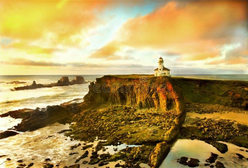 Ritratto del litorale dell'Oregon immagini stock