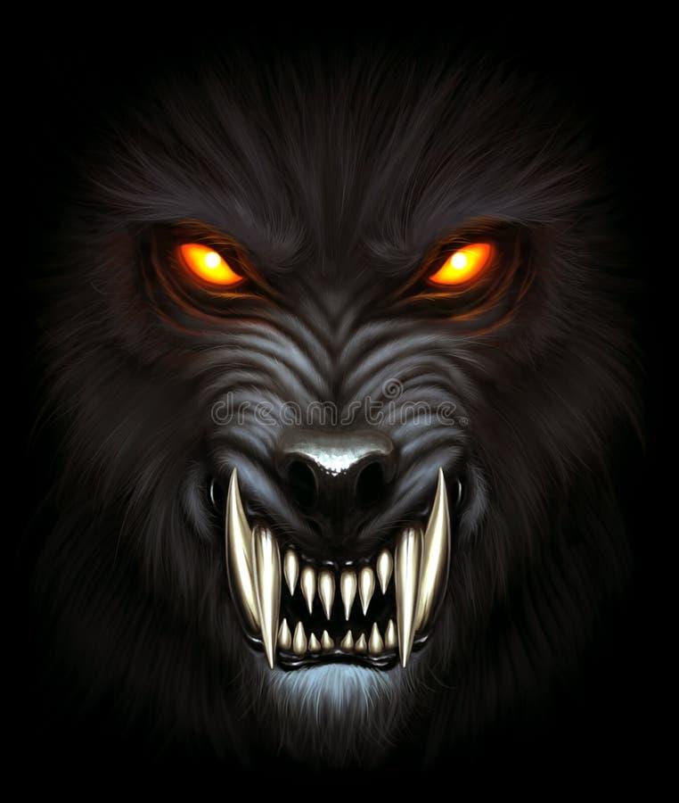 Ritratto del lupo mannaro illustrazione vettoriale