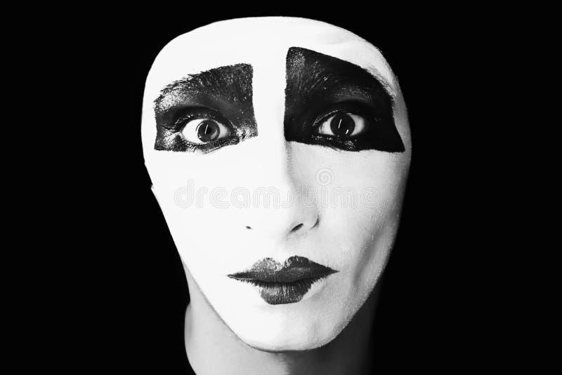 Ritratto del mime fotografie stock libere da diritti