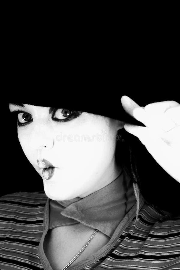 Ritratto del mime immagini stock libere da diritti