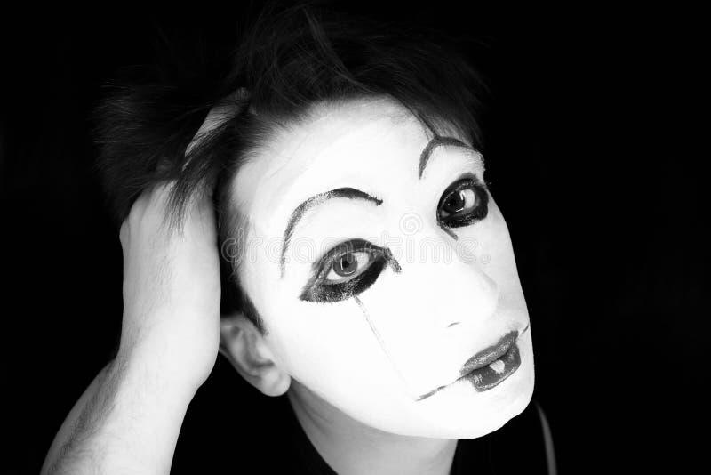 Ritratto del mime fotografia stock
