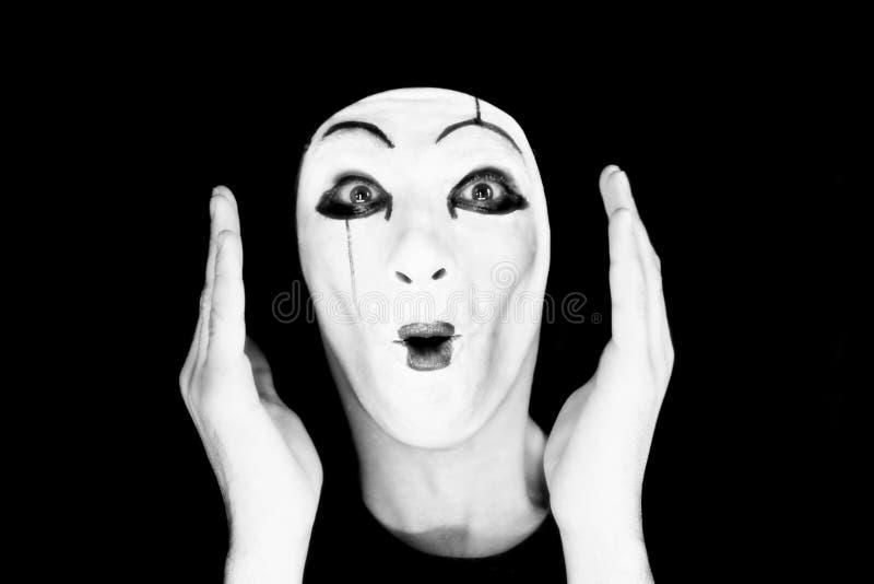 Ritratto del mime immagine stock libera da diritti