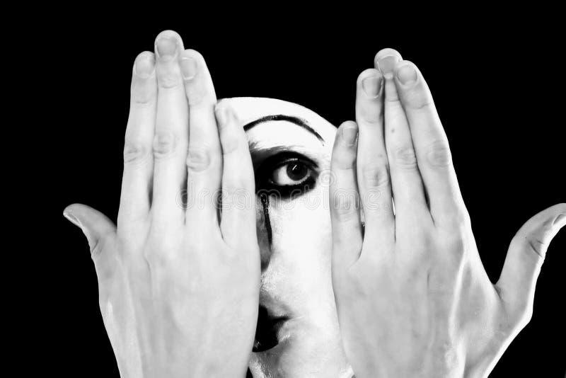 Ritratto del mime fotografia stock libera da diritti