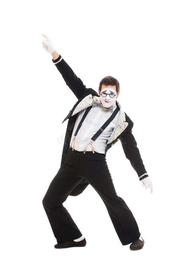 Ritratto del mime del danzatore fotografia stock
