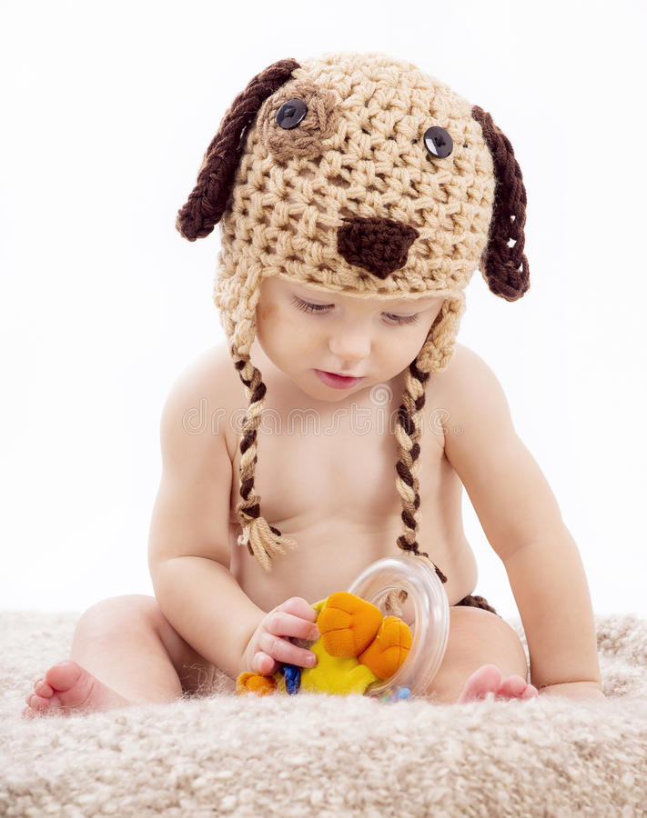 Ritratto del neonato su fondo bianco fotografie stock libere da diritti