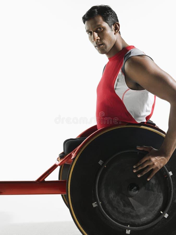 Ritratto del paraplegico Cycler immagine stock