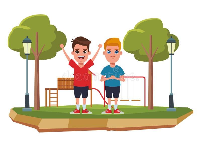Ritratto del personaggio dei cartoni animati dell'avatar dei bambini illustrazione di stock