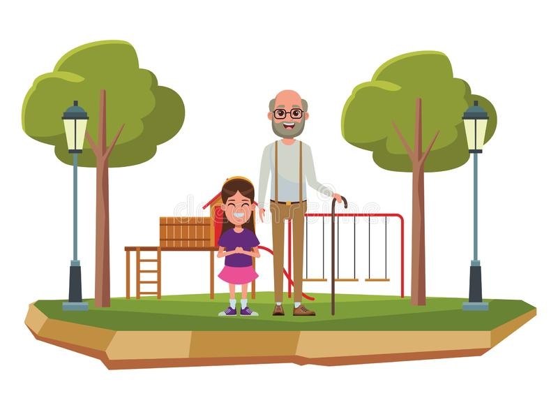 Ritratto del personaggio dei cartoni animati dell'avatar della famiglia illustrazione vettoriale