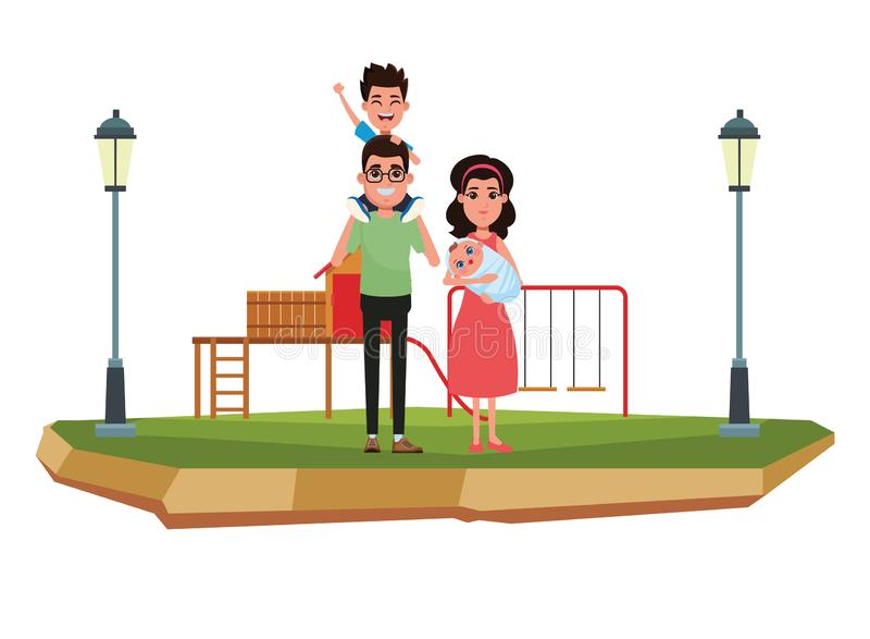 Ritratto del personaggio dei cartoni animati dell'avatar della famiglia royalty illustrazione gratis