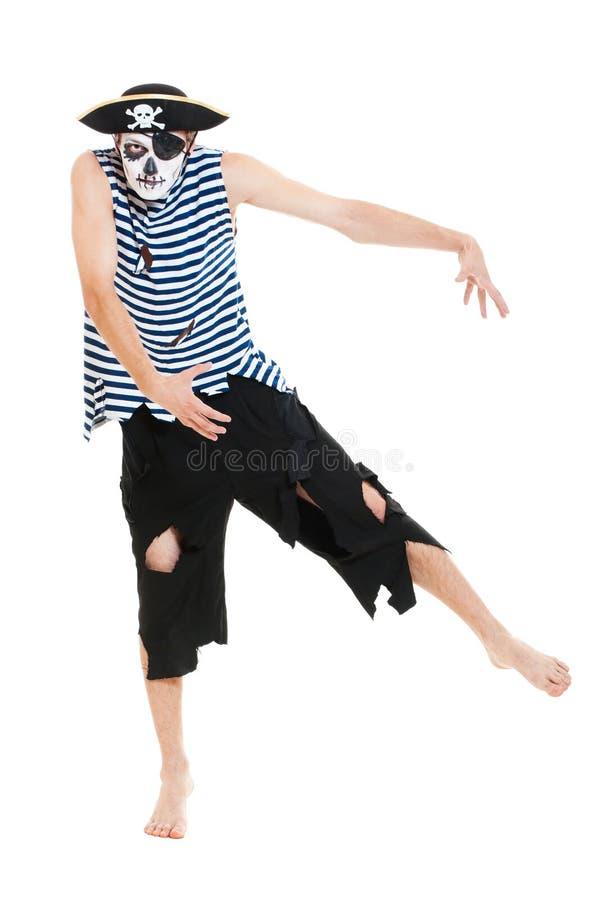 Ritratto del pirata di rabbia fotografie stock libere da diritti