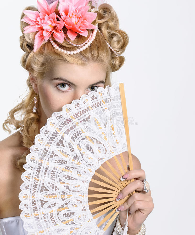 Ritratto della donna elegante fotografie stock libere da diritti