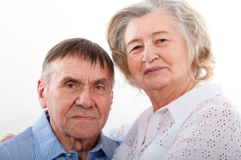 Ritratto del primo piano delle coppie anziane sorridenti immagine stock