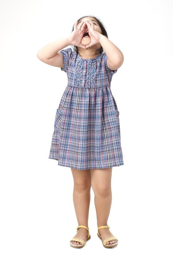 Ritratto del primo piano di piccola ragazza asiatica immagine stock