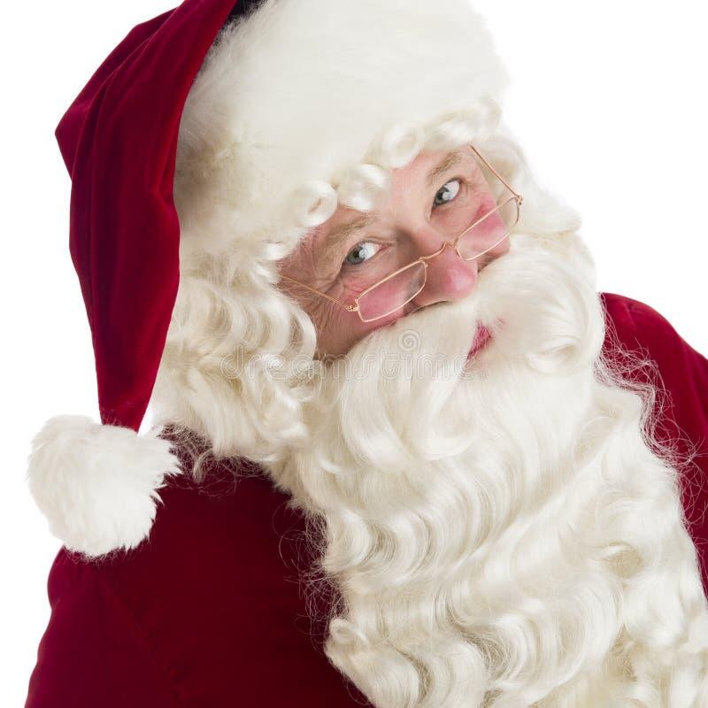 Ritratto del primo piano di Santa Claus fotografia stock