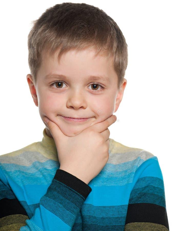 Ritratto del primo piano di un ragazzo pensieroso immagine for Piani principali del primo piano