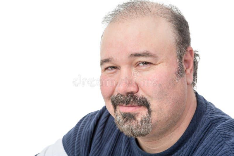 Ritratto del primo piano di un sorridere maturo dell'uomo immagini stock libere da diritti