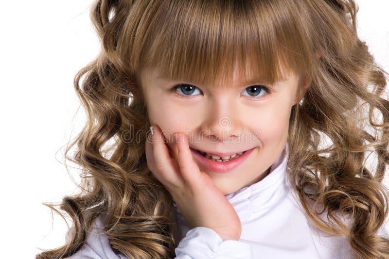 Ritratto del primo piano di una bambina immagini stock