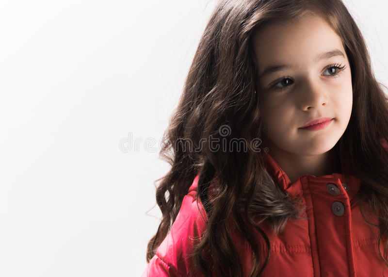 Ritratto del primo piano di una bambina fotografia stock