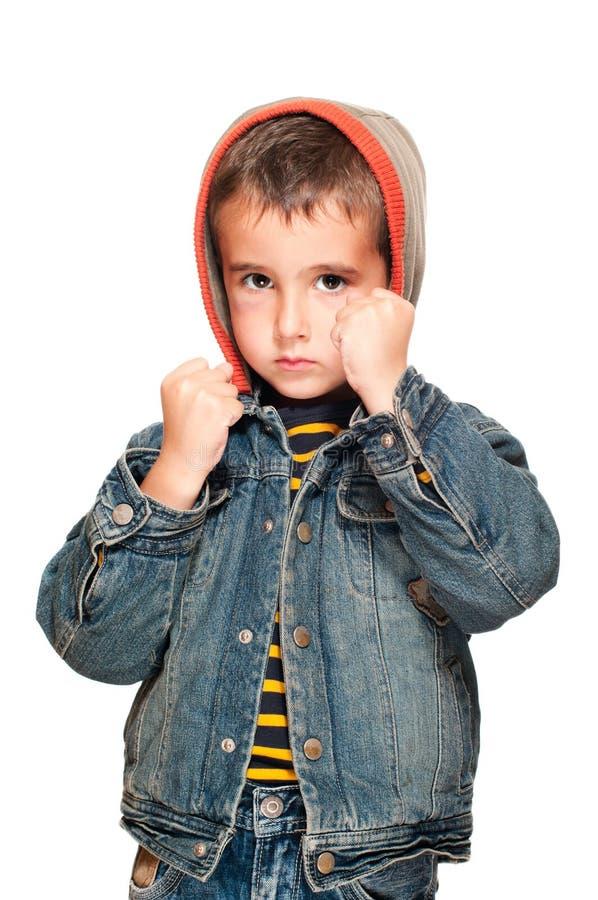 Ritratto del ragazzino con il nero immagine stock libera da diritti