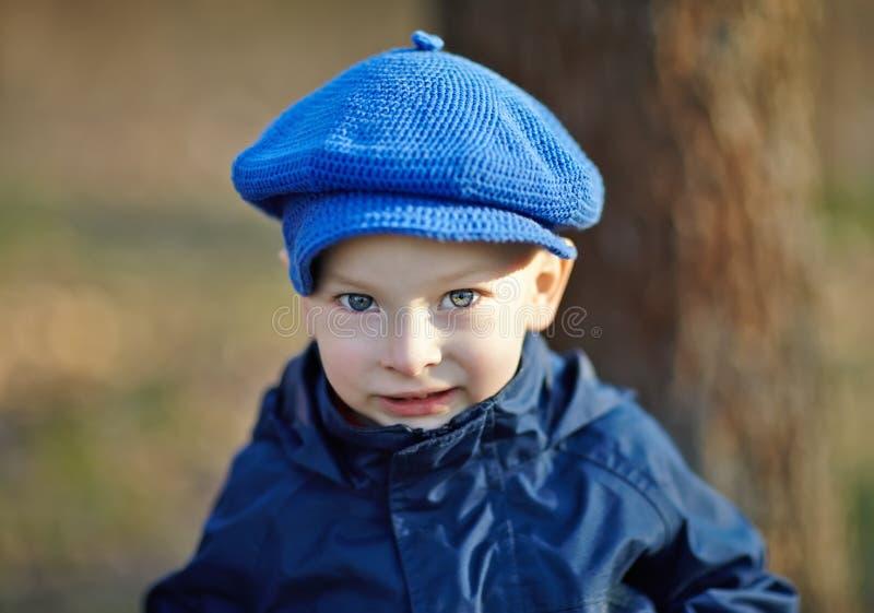 Ritratto del ragazzino sveglio fotografie stock libere da diritti