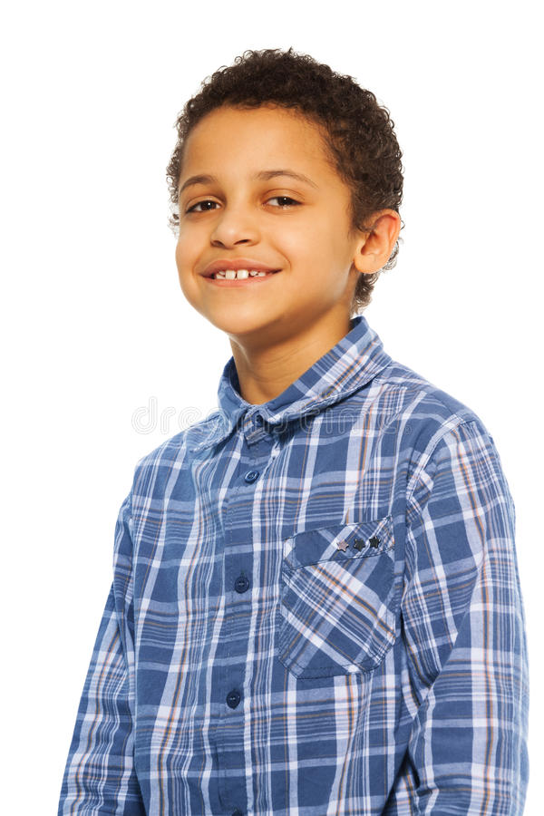 Ritratto del ragazzo nero felice fotografia stock libera da diritti