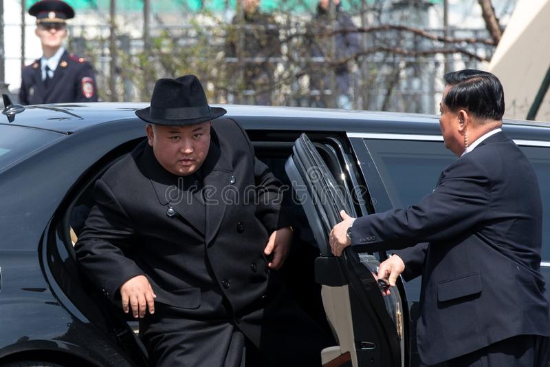 Ritratto del segretario General del DPRK Corea del Nord Kim Jong Un fotografia stock