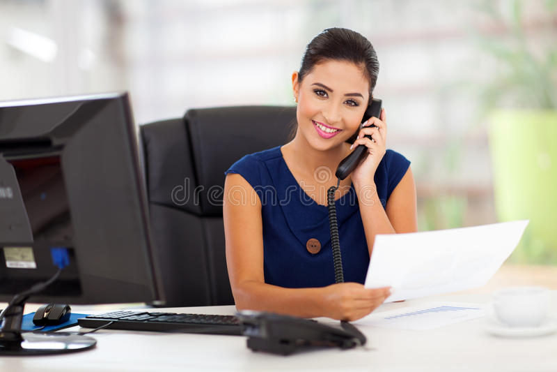 Telefono di risposta di segretario fotografie stock libere da diritti