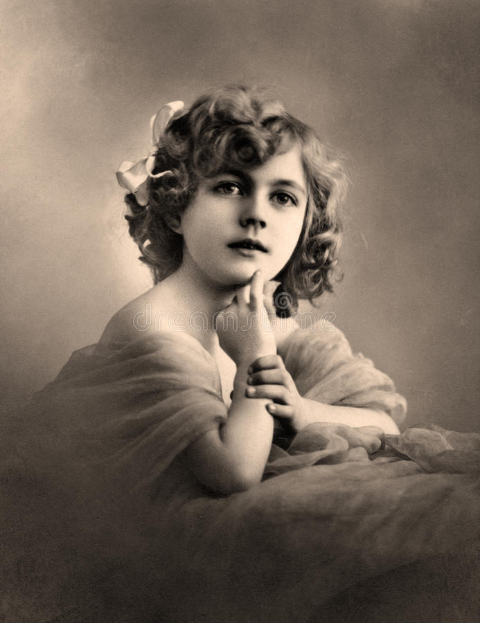 Ritratto dell'annata. immagini stock
