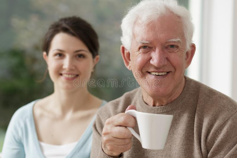 Ritratto dell'anziano sorridente immagini stock