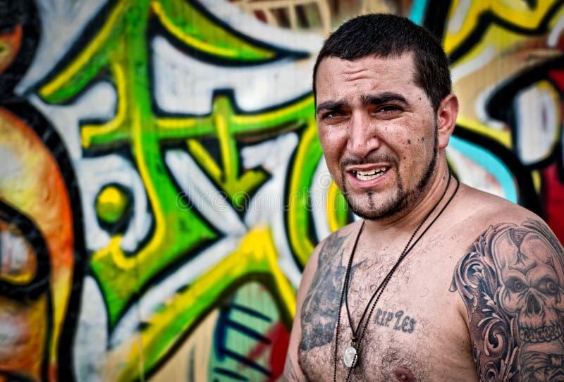 Ritratto dell'artista dei graffiti fotografia stock libera da diritti