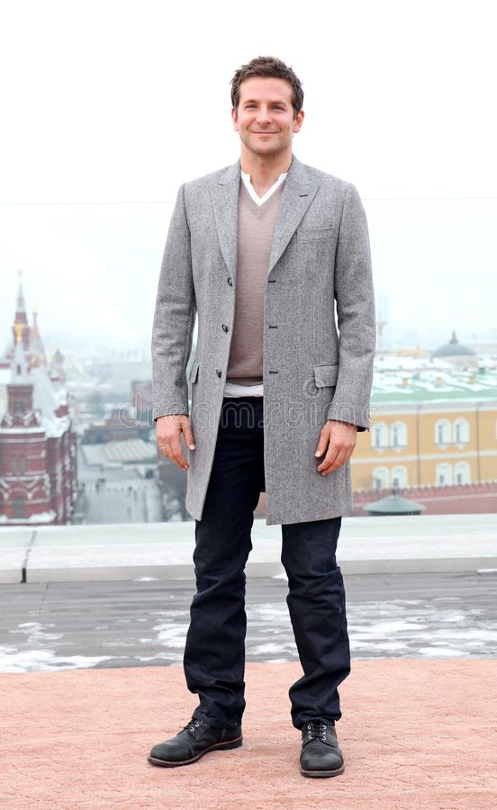 Ritratto dell'attore Bradley Cooper immagini stock libere da diritti