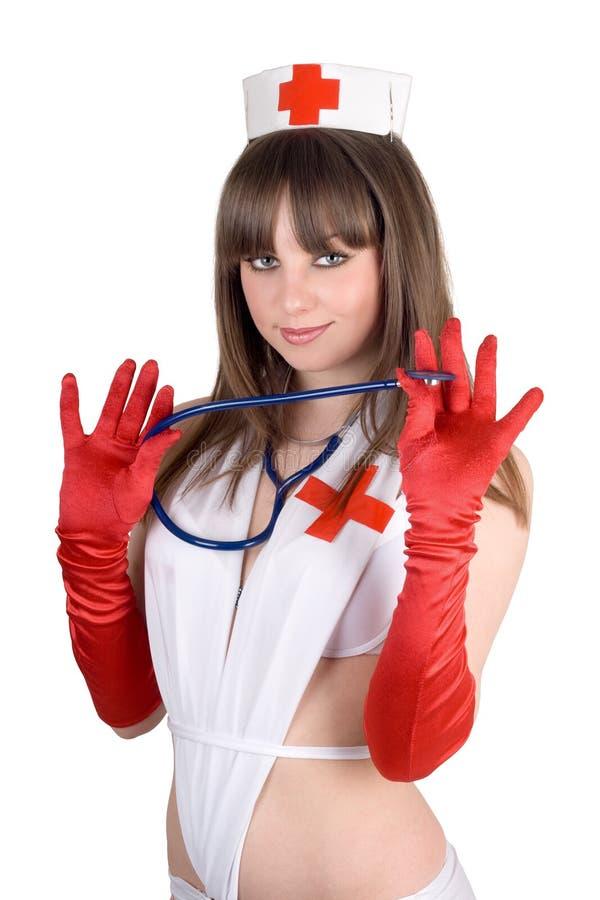 Ritratto dell'infermiera sexy fotografia stock
