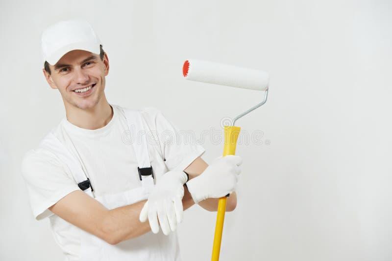 Ritratto dell'operaio del pittore di casa fotografia stock libera da diritti