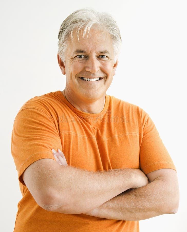 Ritratto dell'uomo adulto. immagine stock