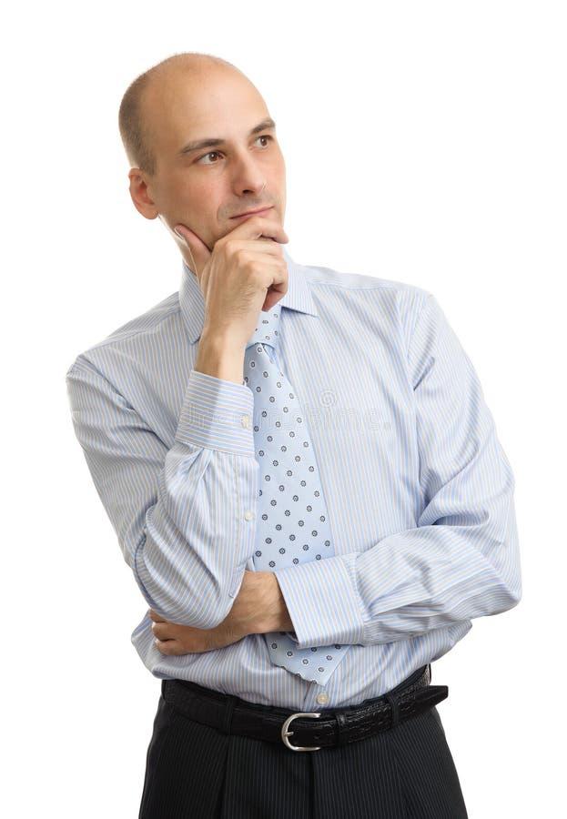 Ritratto dell'uomo d'affari bello isolato fotografia stock
