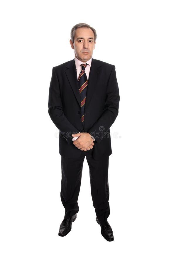 Ritratto dell'uomo di affari maturi immagine stock