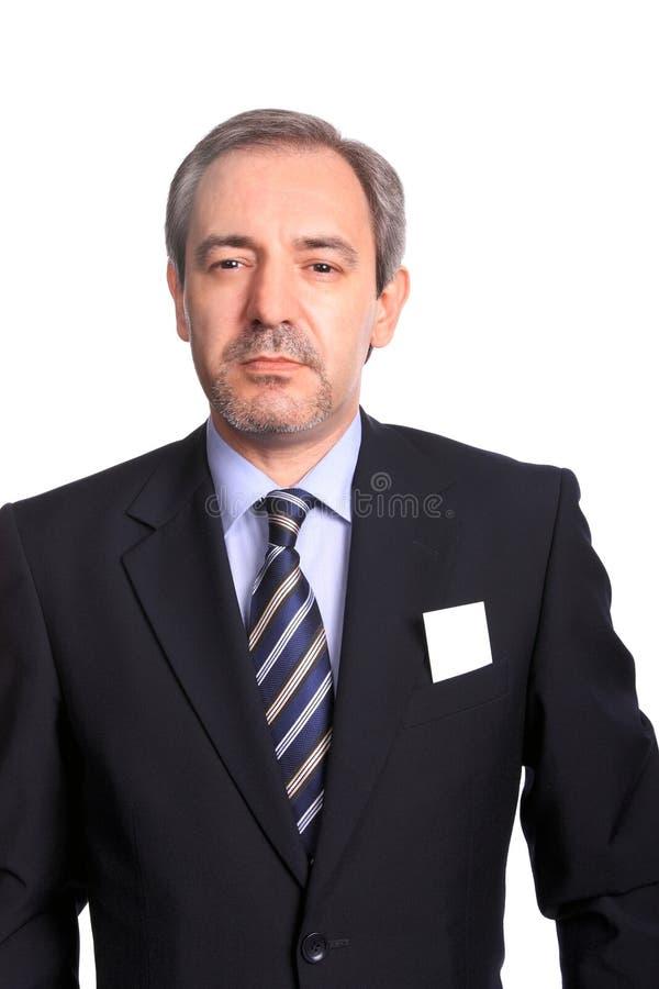 Ritratto dell'uomo di affari maturi fotografia stock libera da diritti