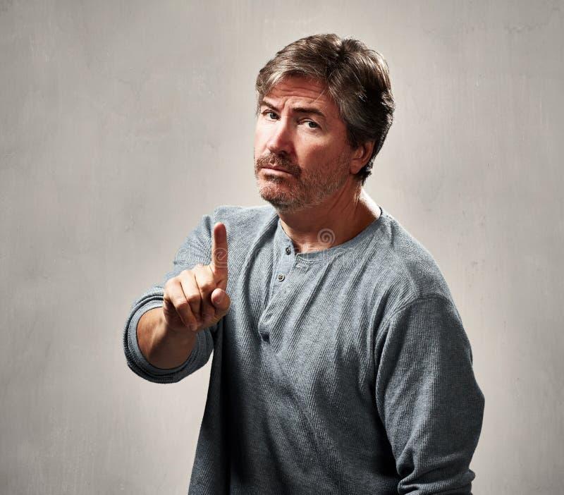 Ritratto dell'uomo di disapprovazione immagini stock libere da diritti