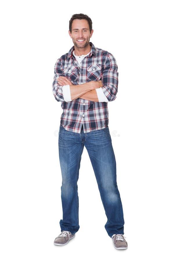 Ritratto dell'uomo felice di medio evo fotografia stock libera da diritti