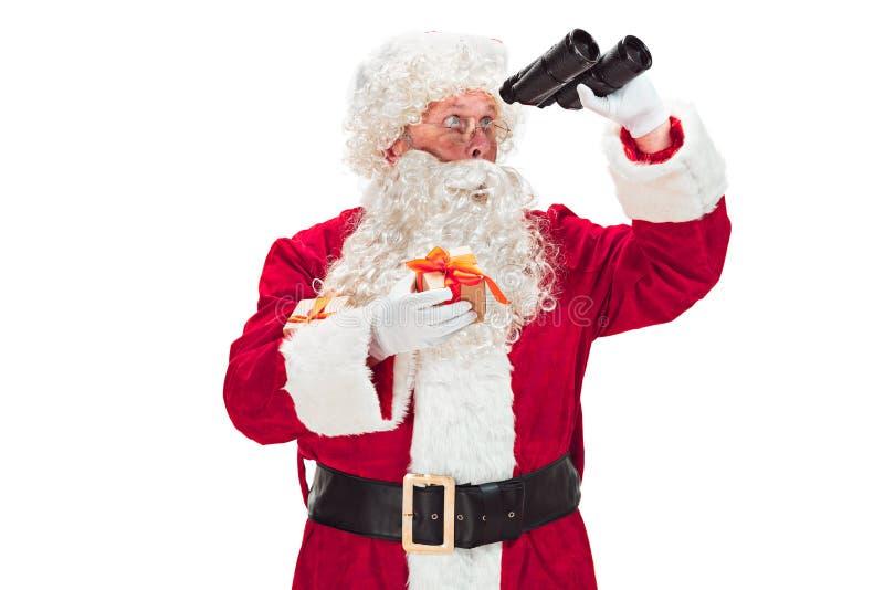 Ritratto dell'uomo in Santa Claus Costume immagine stock