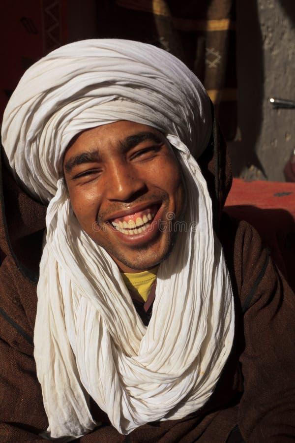 Ritratto dell'uomo sorridente di Berber immagine stock