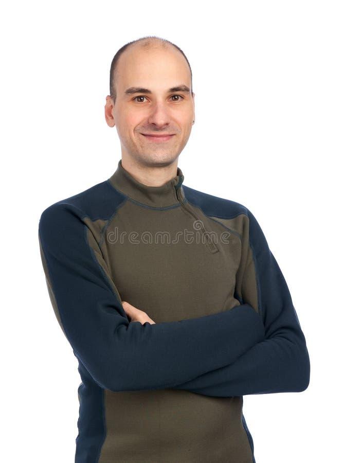 Ritratto dell'uomo sorridente felice immagini stock libere da diritti